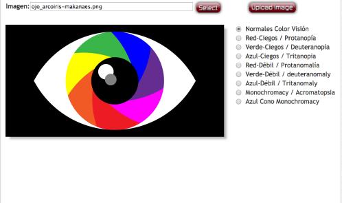 Simulador de colores de Coblis