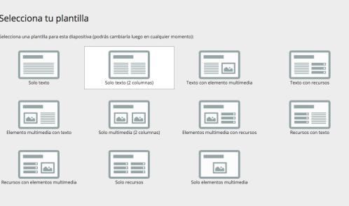 GoConqr patrón diapositivas